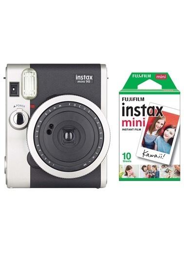 Instax Instax Neo 90 Classic Siyah Fotoğraf Makinesi Ve 10'Lu Mini Film Siyah